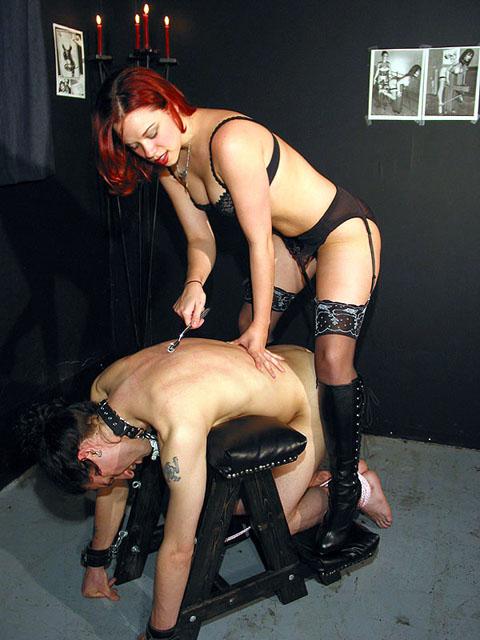Redhead mistress gets he