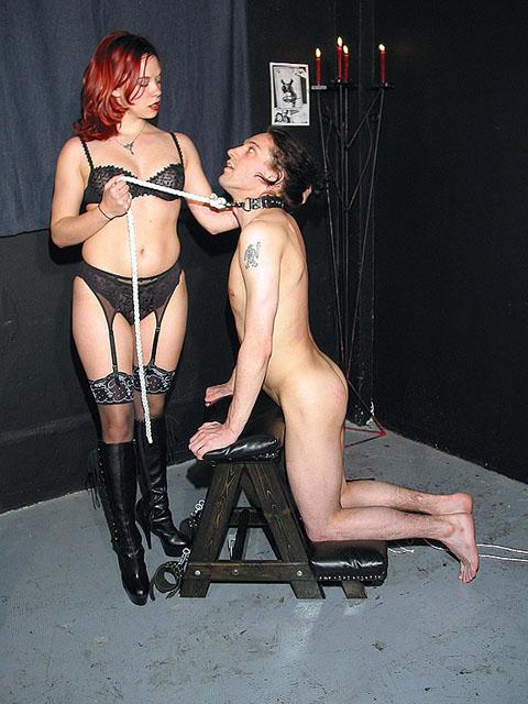 Redhead mistress fists her slave PornerBros
